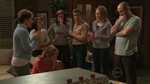 Rachel Kinski, Susan Kennedy, Rosie Cammeniti, Rebecca Napier, Paul Robinson, Miranda Parker, Steve Parker in Neighbours Episode 5365