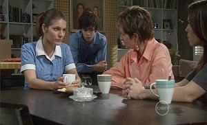 Rachel Kinski, Zeke Kinski, Susan Kennedy, Libby Kennedy in Neighbours Episode 5380
