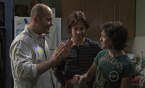 Steve Parker, Riley Parker, Bridget Parker in Neighbours Episode 5389