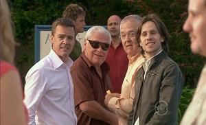 Steph Scully, Paul Robinson, Lou Carpenter, Ned Parker, Steve Parker, Harold Bishop, Riley Parker, Toadie Rebecchi in Neighbours Episode 5390