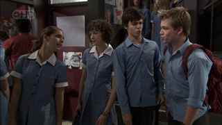 Rachel Kinski, Bridget Parker, Zeke Kinski, Ringo Brown in Neighbours Episode 5395