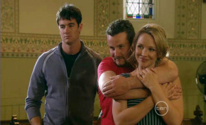 Frazer Yeats, Toadie Rebecchi, Steph Scully in Neighbours Episode 5399