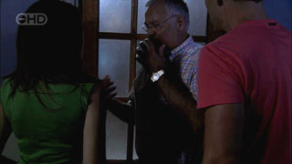 Harold Bishop, Dan Fitzgerald, Libby Kennedy in Neighbours Episode 5408