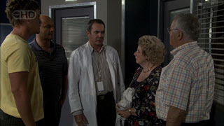 Ned Parker, Steve Parker, Karl Kennedy, Valda Sheergold, Harold Bishop in Neighbours Episode 5408
