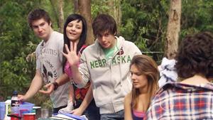 Declan Napier, Taylah Jordan, Zeke Kinski, Rachel Kinski, Bridget Parker in Neighbours Episode 5413