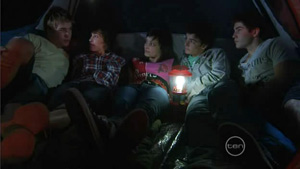 Ringo Brown, Bridget Parker, Taylah Jordan, Zeke Kinski, Declan Napier in Neighbours Episode 5413