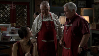 Carmella Cammeniti, Harold Bishop, Lou Carpenter in Neighbours Episode 5415