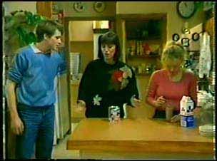 Scott Robinson, Maria Ramsay, Wendy Gibson in Neighbours Episode 0084