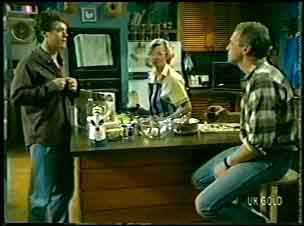 Paul Robinson, Helen Daniels, Jim Robinson in Neighbours Episode 0084