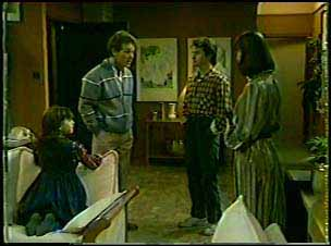 Lucy Robinson, Robert Hutchins, Danny Ramsay, Maria Ramsay in Neighbours Episode 0086