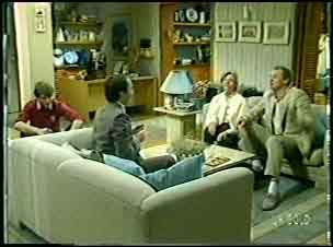 Scott Robinson, Bob Sutton, Helen Daniels, Jim Robinson in Neighbours Episode 0091