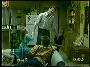 Susan Langdon, Des Clarke, Rodney Langdon, Joan Langdon in Neighbours Episode 0093