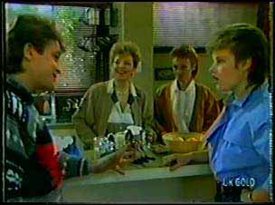 Shane Ramsay, Eileen Clarke, Joan Langdon, Daphne Clarke in Neighbours Episode 0104