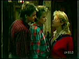 Shane Ramsay, Daphne Lawrence, Rachel Burns in Neighbours Episode 0112
