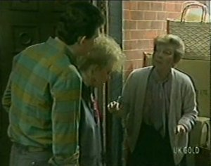 Des Clarke, Terry Inglis, Eileen Clarke in Neighbours Episode 0119