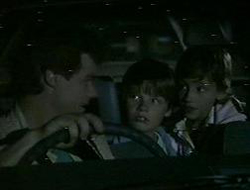 Paul Robinson, Bradley Townsend, Lucy Robinson in Neighbours Episode 0233