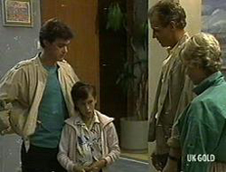Paul Robinson, Lucy Robinson, Jim Robinson, Helen Daniels in Neighbours Episode 0233