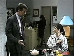 Paul Robinson, Caroline Alessi, Christina Alessi in Neighbours Episode 1485