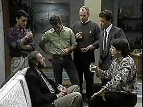 Josh Anderson, Michael Daniels, Glen Donnelly, Jim Robinson, Paul Robinson, Joe Mangel in Neighbours Episode 1485