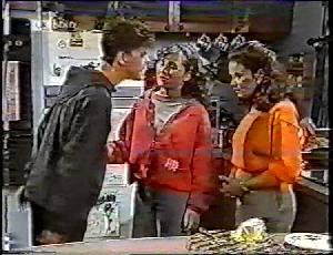 Michael Martin, Debbie Martin, Julie Robinson in Neighbours Episode 1783