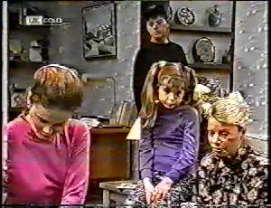 Julie Robinson, Michael Martin, Hannah Martin, Helen Daniels in Neighbours Episode 1783