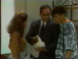 Julie Robinson, Philip Martin, Michael Martin in Neighbours Episode 1825