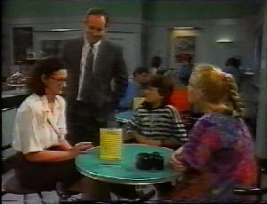Dorothy Burke, Philip Martin, Toby Mangel, Phoebe Bright in Neighbours Episode 1825