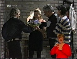 Connor Cleary, Lauren Turner, Lou Carpenter, Rick Alessi in Neighbours Episode 1989