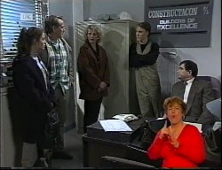 Beth Brennan, Doug Willis, Union Rep, Terry Baker, Rod Baker in Neighbours Episode 1989