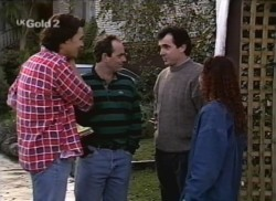 Sam Kratz, Philip Martin, Karl Kennedy, Cody Willis in Neighbours Episode 2248