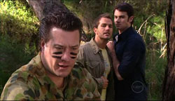 Allan Steiger, Will Griggs, Frazer Yeats in Neighbours Episode 5099