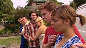 Janelle Timmins, Allan Steiger, Dylan Timmins, Sky Mangel, Ringo Brown, Rachel Kinski in Neighbours Episode 5175