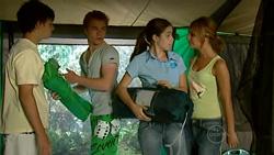 Zeke Kinski, Ringo Brown, Louise Carpenter (Lolly), Rachel Kinski in Neighbours Episode 5198