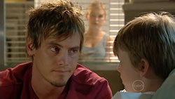 Ned Parker, Janae Timmins, Mickey Gannon in Neighbours Episode 5248