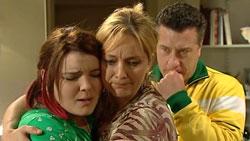 Bree Timmins, Janelle Timmins, Allan Steiger in Neighbours Episode 5250