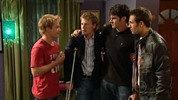 Ringo Brown, Oliver Barnes, Frazer Yeats, Adam Rhodes in Neighbours Episode 5260