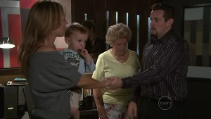 Steph Scully, Charlie Hoyland, Valda Sheergold, Toadie Rebecchi in Neighbours Episode 5319