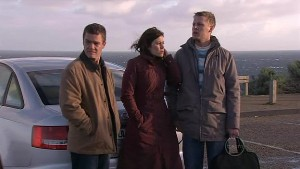 Paul Robinson, Rebecca Napier, Oliver Barnes in Neighbours Episode 5319