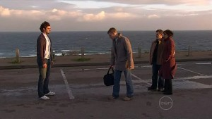 Nick Thompson, Oliver Barnes, Paul Robinson, Rebecca Napier in Neighbours Episode 5319