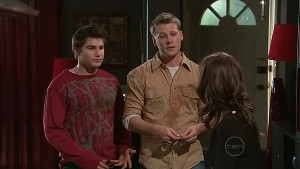 Declan Napier, Oliver Barnes, Rebecca Napier in Neighbours Episode 5322
