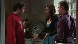 Declan Napier, Rebecca Napier, Paul Robinson in Neighbours Episode 5323