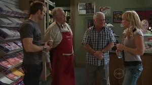 Adam Rhodes, Harold Bishop, Lou Carpenter, Pepper Steiger in Neighbours Episode 5323