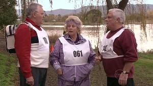 Harold Bishop, Valda Sheergold, Lou Carpenter in Neighbours Episode 5323