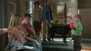 Janae Hoyland, Ned Parker, Riley Parker, Steve Parker, Jake, Mickey Gannon in Neighbours Episode 5329