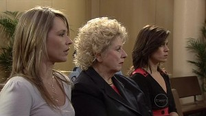 Steph Scully, Valda Sheergold, Rebecca Napier in Neighbours Episode 5338