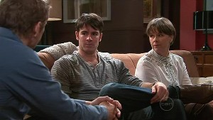 Dan Fitzgerald, Frazer Yeats, Prue Brown in Neighbours Episode 5344