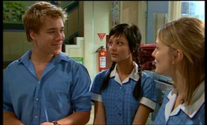 Ringo Brown, Taylah Jordan, Jessica Wallace in Neighbours Episode 5362