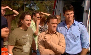 Darren Stark, Paul Robinson, Frazer Yeats in Neighbours Episode 5366