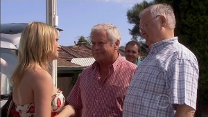 Janae Timmins, Lou Carpenter, Harold Bishop, Karl Kennedy in Neighbours Episode 5385