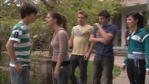 Zeke Kinski, Rachel Kinski, Ringo Brown, Declan Napier, Taylah Jordan in Neighbours Episode 5386